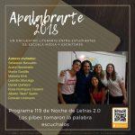 Noche de Letras 2.0, Progr. 119 «Apalabrarte 2018»