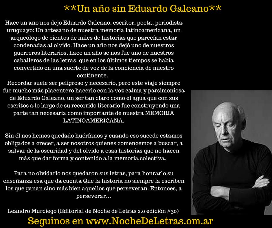 Poesía a mano alzadaUn año sin Eduardo Galeano... - Poesía a mano alzada b0bd82c8378
