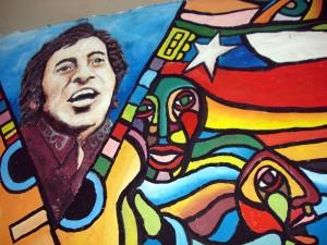 Mural que recuerda a Víctor Jara
