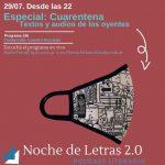 ¡Escuchá YA! Especial Pandemia (con la poesía de los oyentes). Podcast #156 de Noche de Letras 2.0