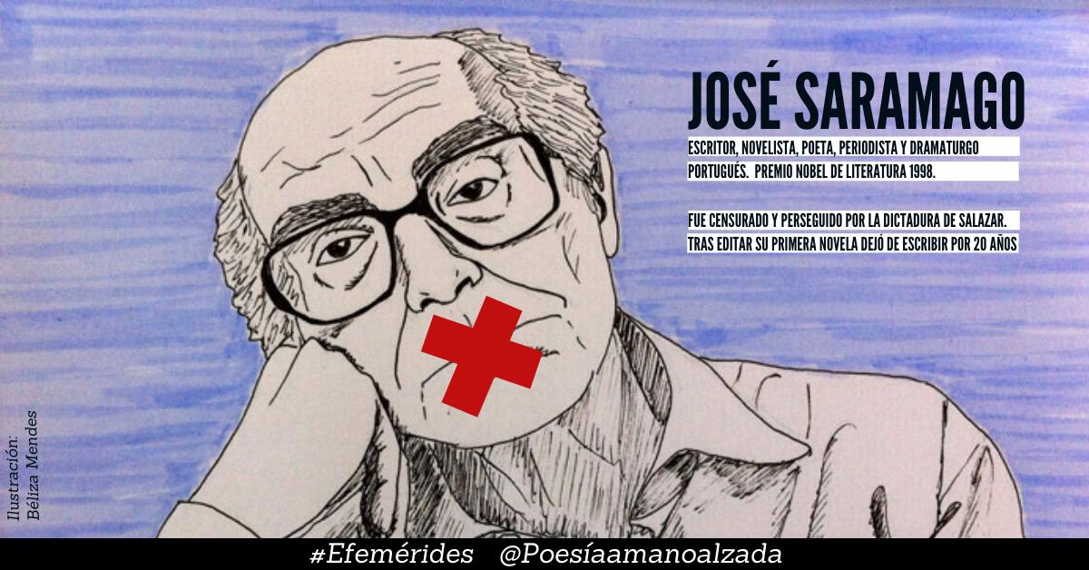 """""""Los silencios de José Saramago"""" Collage PAMA realizado sobre la ilustración de Béliza Mendes"""