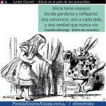 Lewis Carroll y Alicia a través del espejo