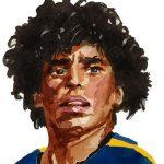 Maradona, jefe espiritual del fútbol