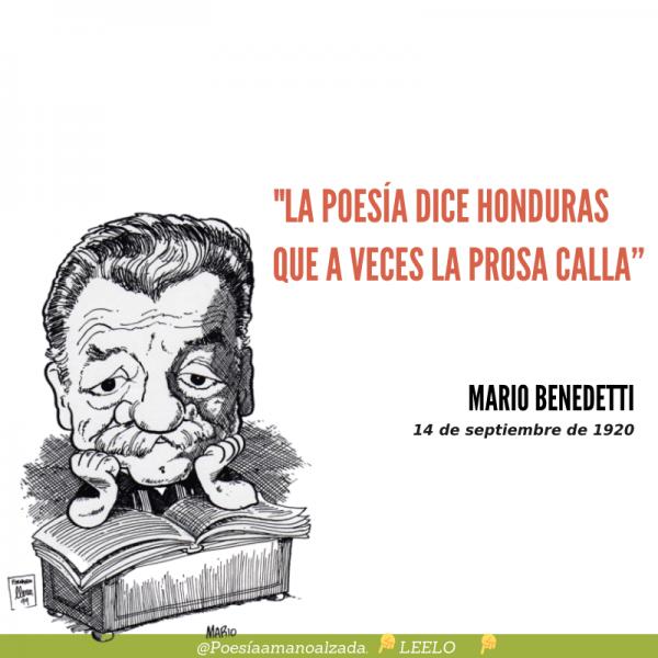 Mario Benedetti, el poeta de lo simple, cumpliría 100 años