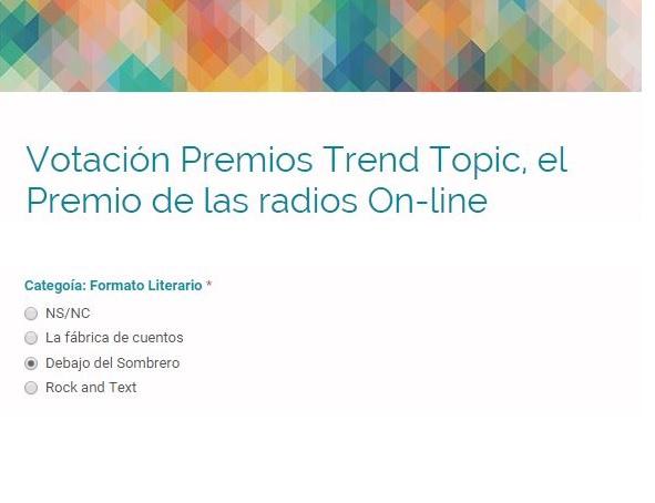 Premios Trend Topic - Debajo del Sombrero