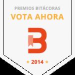 El blog candidateado para los PREMIOS Bitácora 2014