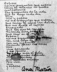 Poema de puño y letra de Ama María Ponce, detenida y desaparecida escritos en la ESMA