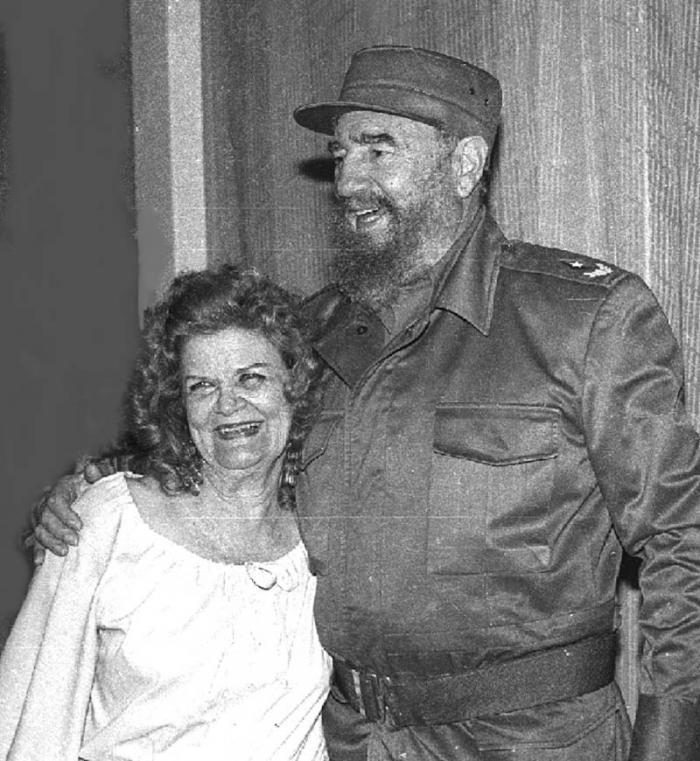 Fidel Castro y Carilda Oliver Labrada, en Matanzas