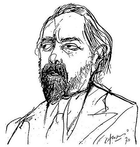 Oliverio Girondo Dibujo de Alonso / fuente: http://www.elortiba.org/