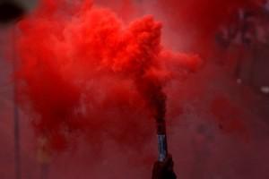 humo rojo