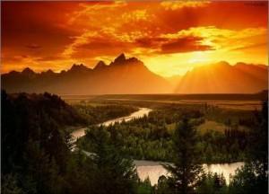 montañas-amanecer-cielo