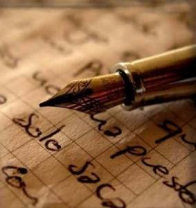 pluma en cuaderno